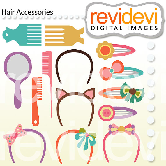 Items similar to Hair Accessories 07448.. Commercial use digital.