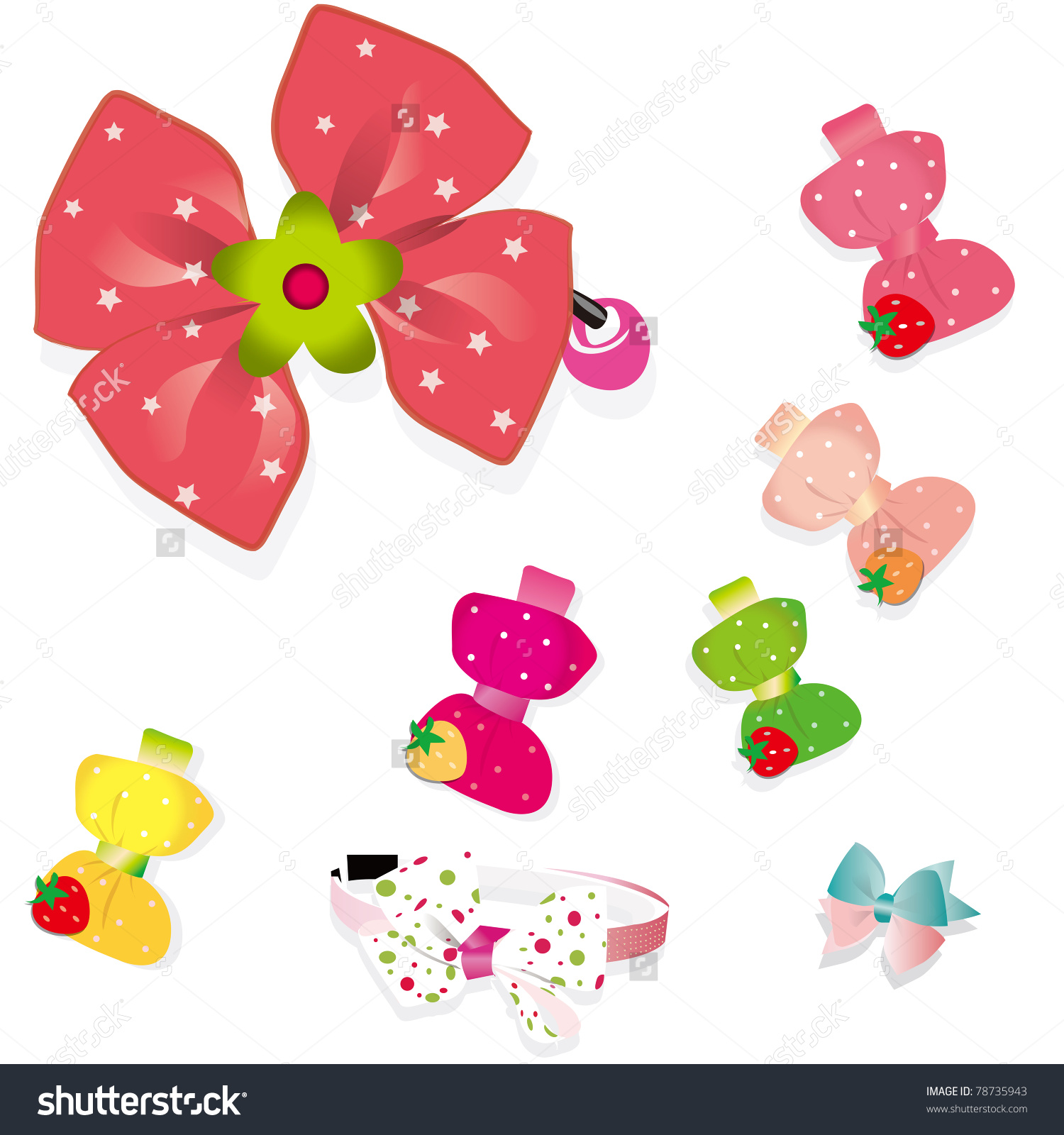 hair accessories clipart clipground