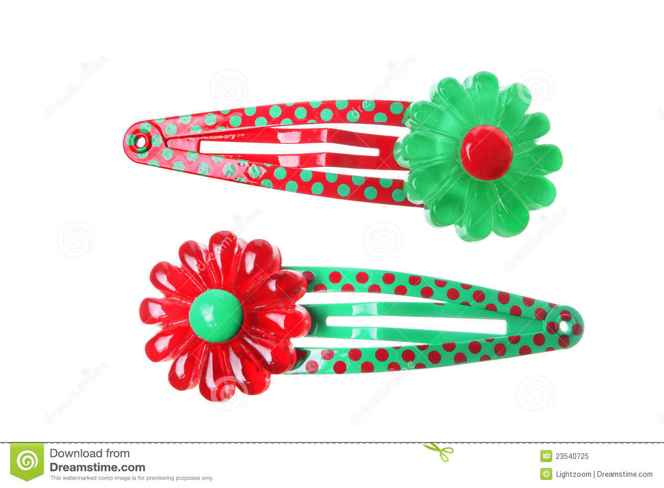 Hair Clips Royalty Free Stock Photo.