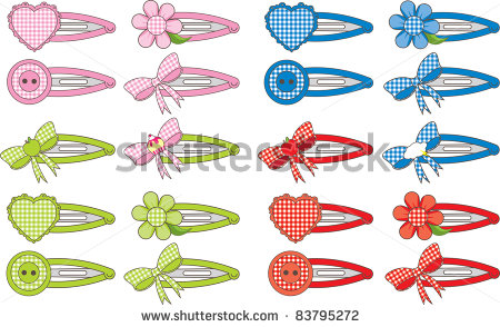 Hair Accessories Clipart.