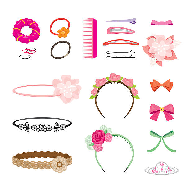 Best Hair Accessories Illustrations, Royalty.