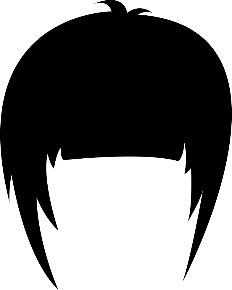 Hair Wig With Side Bangs Svg Png Icon Free Download (#59188.