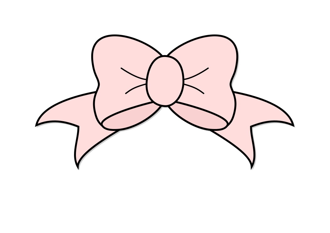 Pink Hair Bow Clip Art N17 free image.