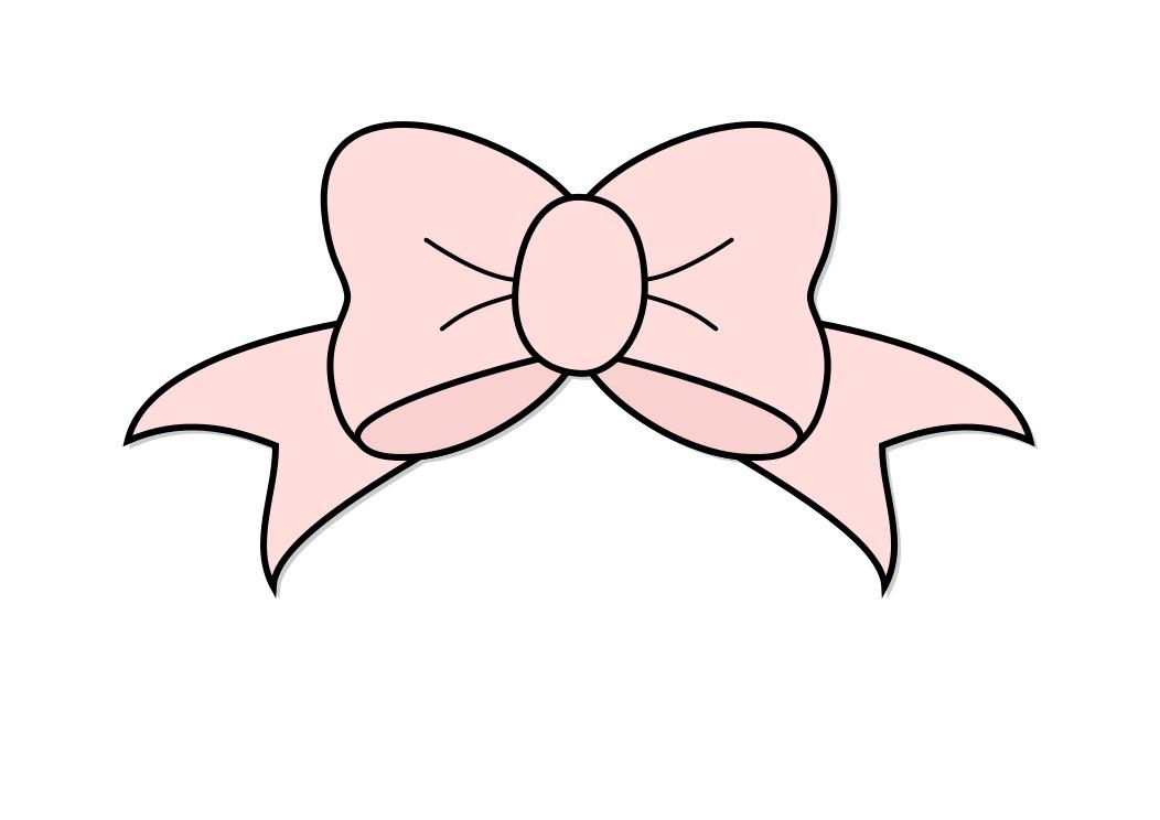 Pink Hair Bow Clip Art N17 free image.