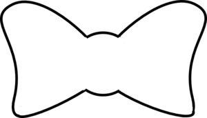 Bow Outline clip art.