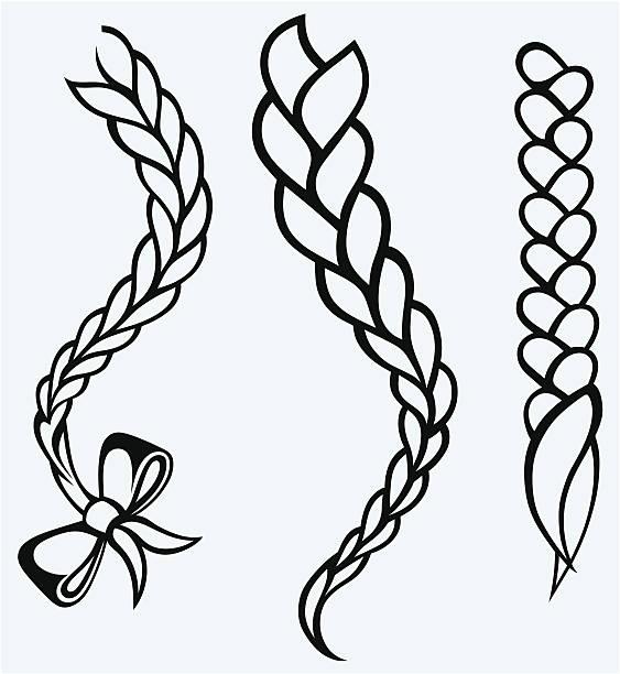 Best Braided Hair Illustrations, Royalty.