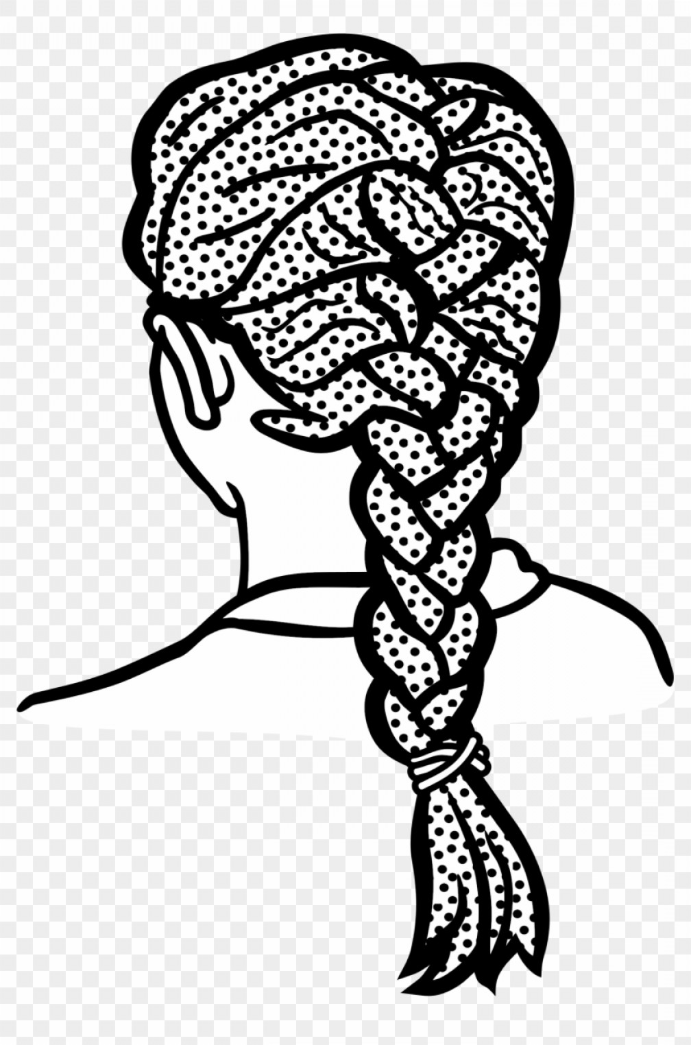 Trhxwxiafro Clipart Braiding Hair Braid Clipart Black And.