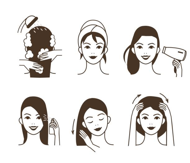 Best Hair Care Illustrations, Royalty.