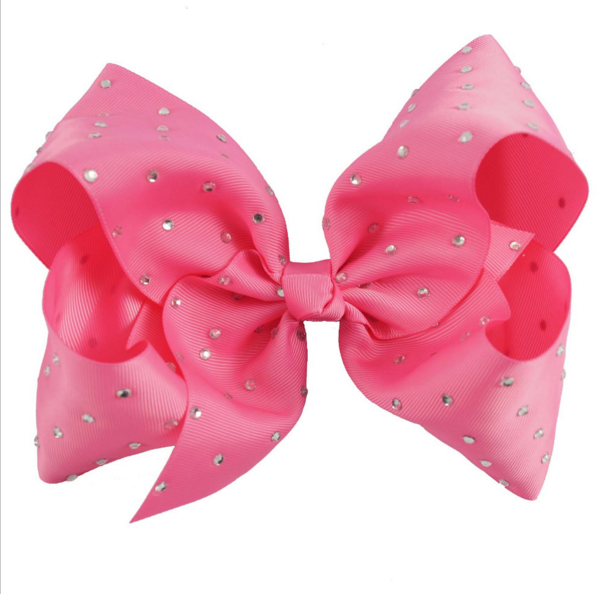 7'' Large Candy Color Hair Clip With Chic Rhinestone Hair Bow For Popular  Girl Dance Party Hair Accessories.