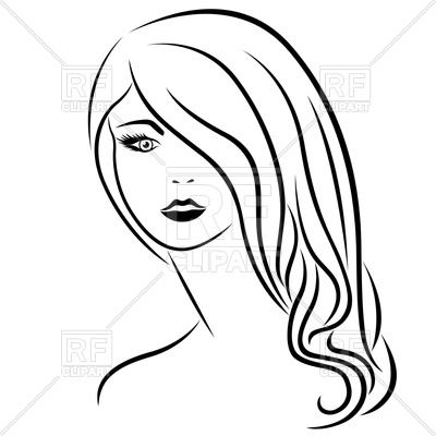 Long hair clipart black and white 7 » Clipart Station.