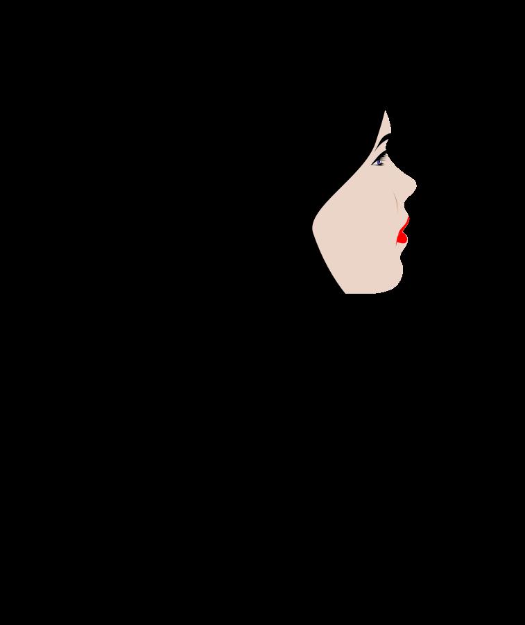 Black Hair Hair Stylist Clipart.