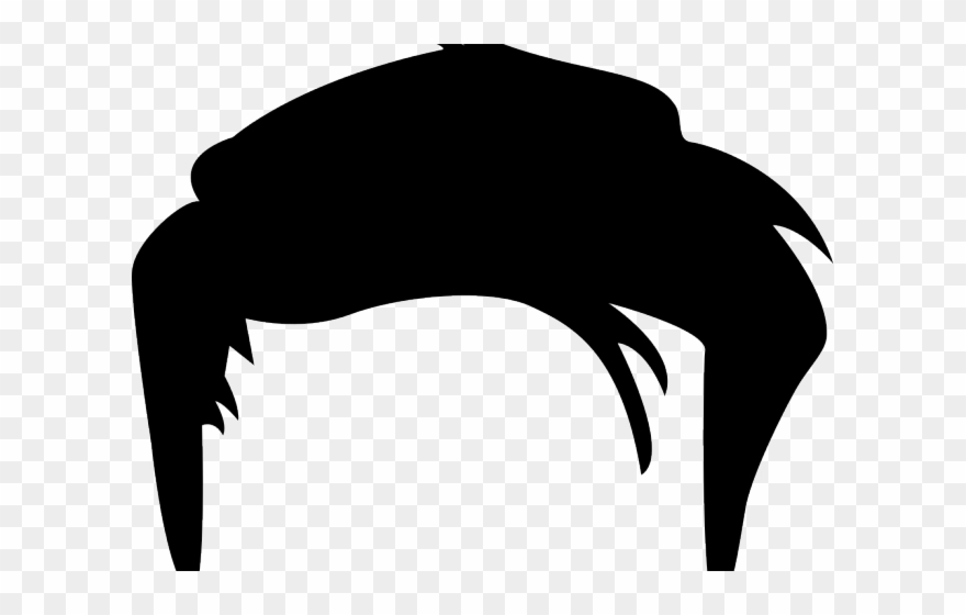 Black Hair Clipart Mens Hair.