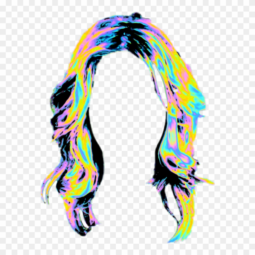 hair #rainbowhair #wig #multicolour.