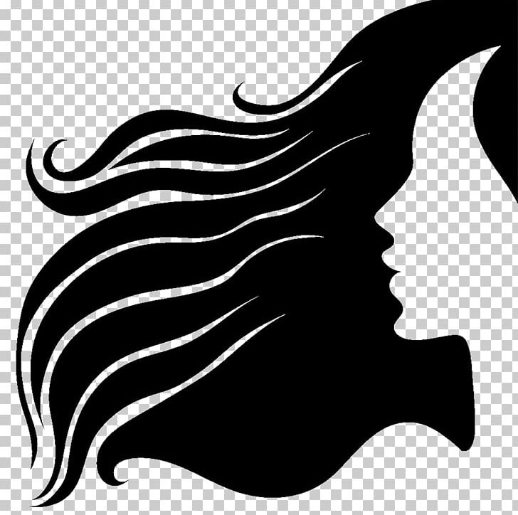 Silhouette Long Hair Hairstyle PNG, Clipart, Animals, Black.