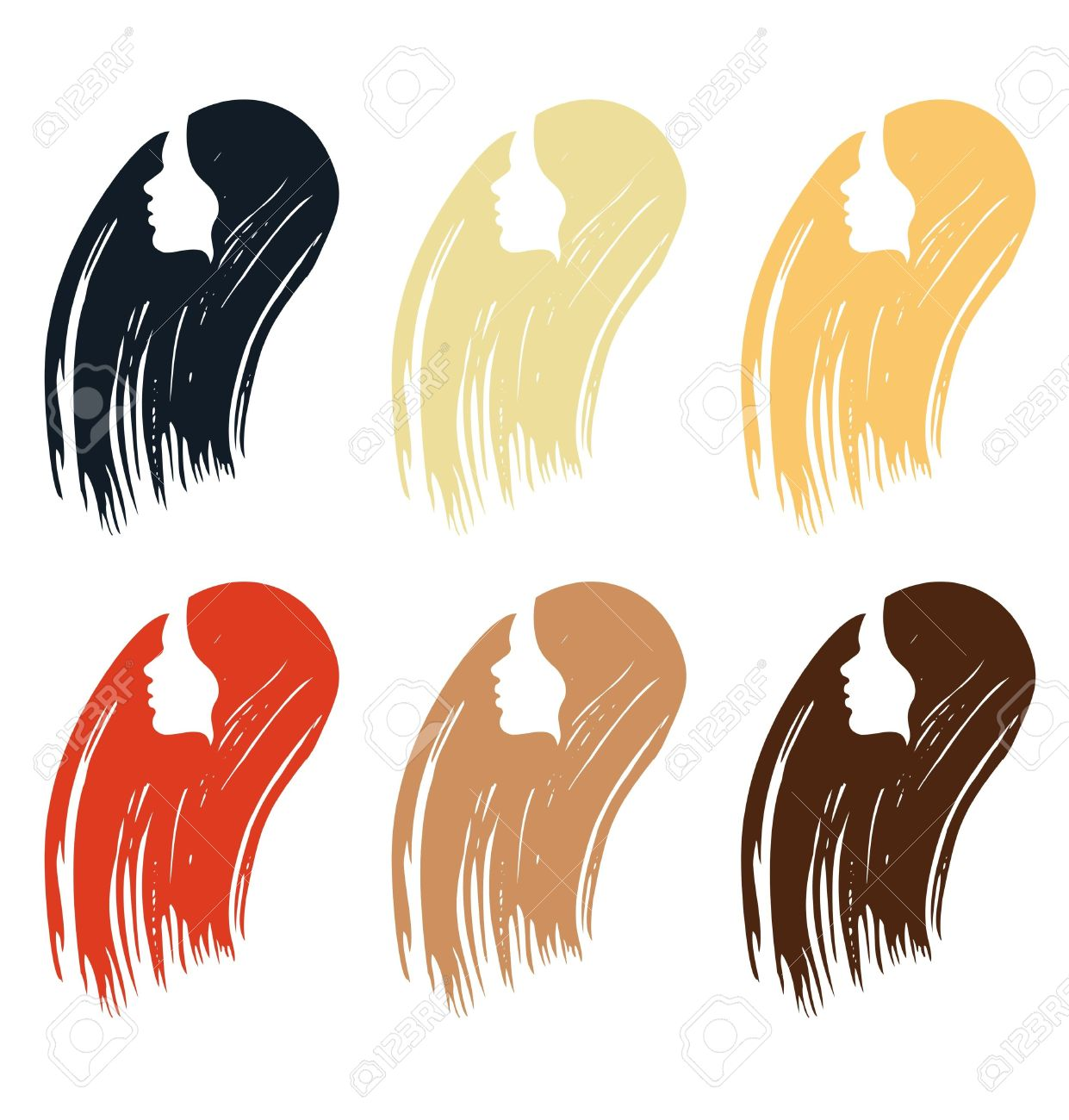 Hair Dying Clipart.