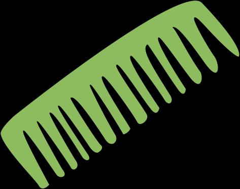 Hair Comb Clip Art.