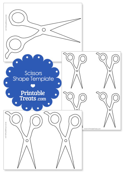 hair cutting scissor outline clipart #17