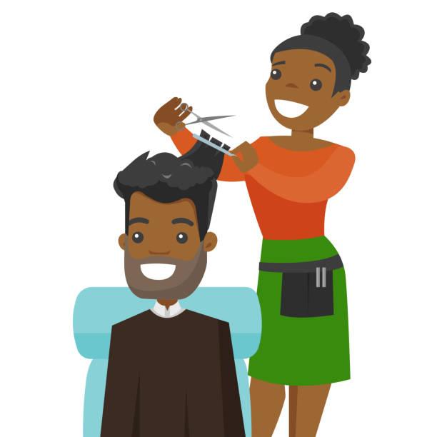 Best African American Hair Salon Illustrations, Royalty.