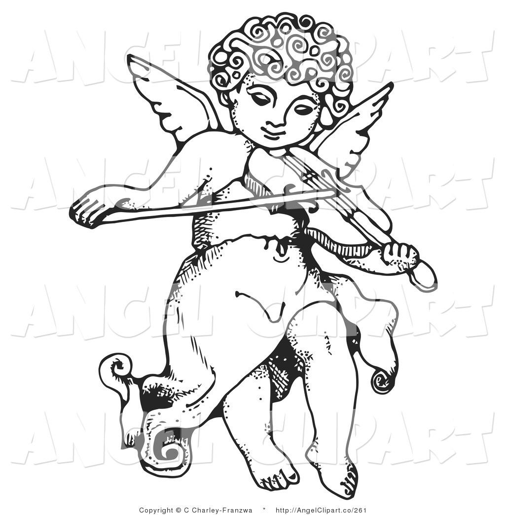 Clip Art Of Angel Flying Clipart.