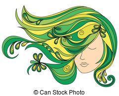 Green hair Vector Clipart Royalty Free. 6,225 Green hair clip art.