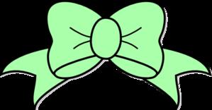 Seafoam Green Hair Bow Clip Art at Clker.com.