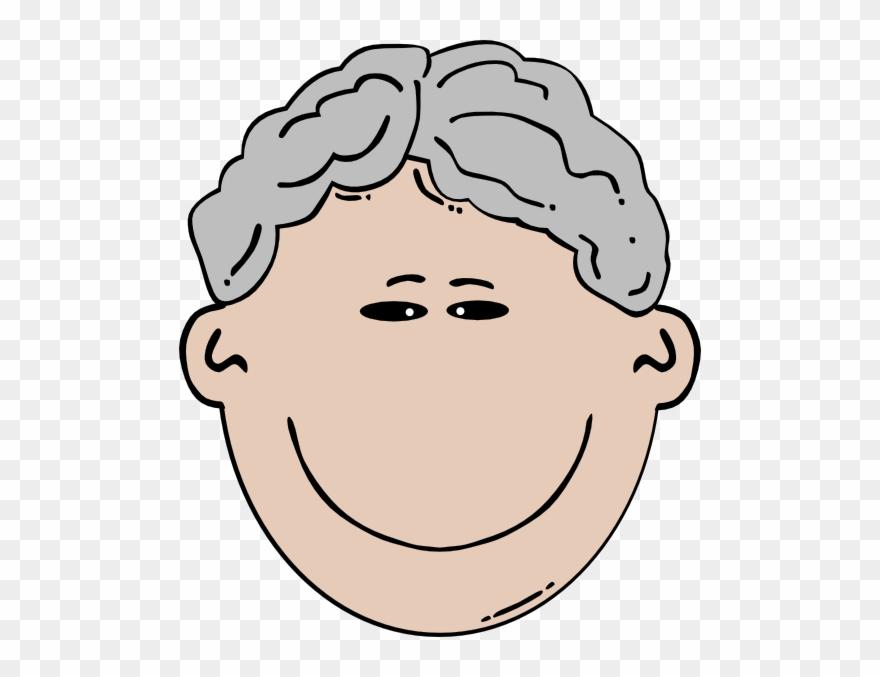 Grey Hair Man Clipart.