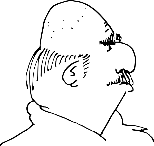 Bald White Man Clipart.