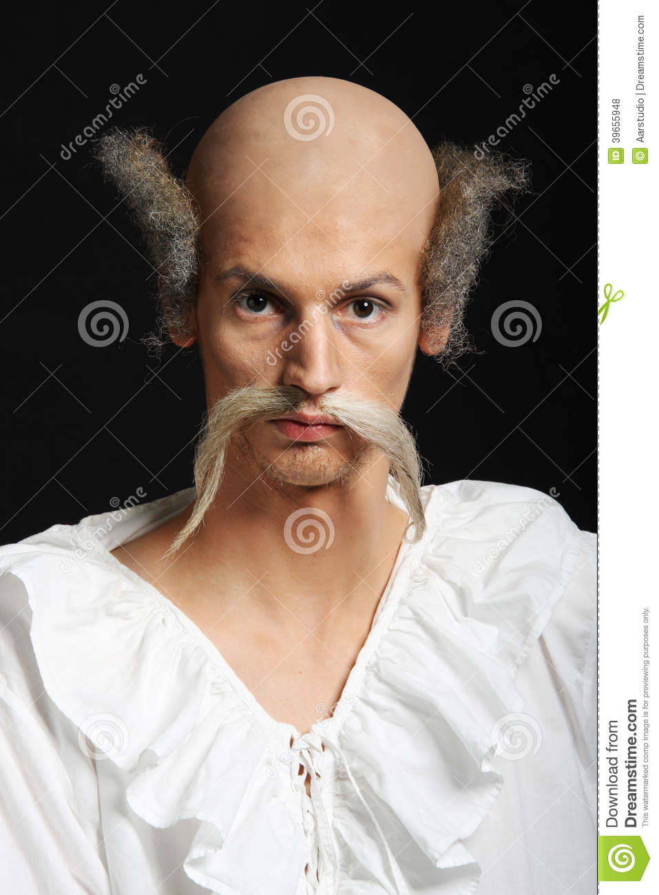 Hair On Almost Bald Man Clipart.