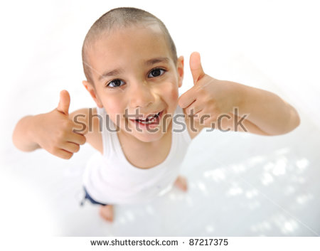 Bald Child Stock Images, Royalty.