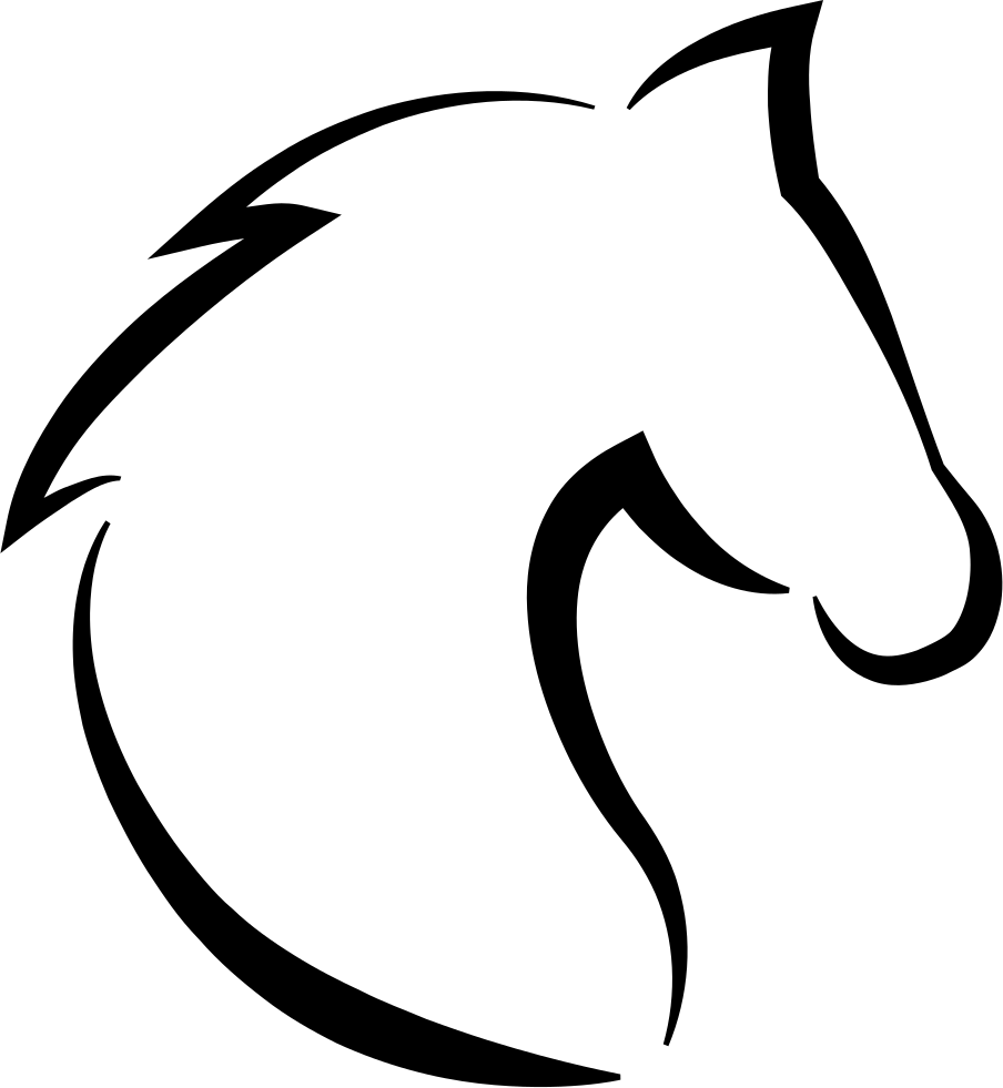 Horse Head With Hair Outline Comments Outline Horse.