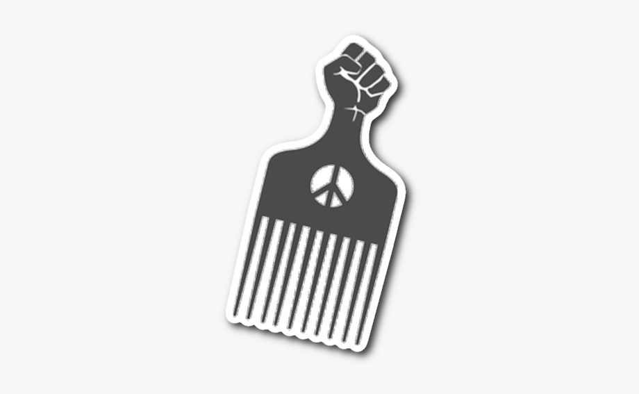 Afro Pick Sticker.