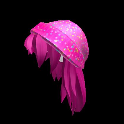 Ice Cream Beanie with Pink Hair.