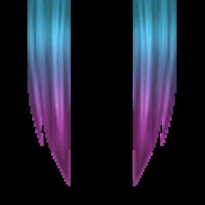 Blue to purple hair.