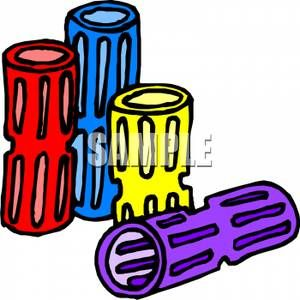 Brightly Colored Hair Rollers.
