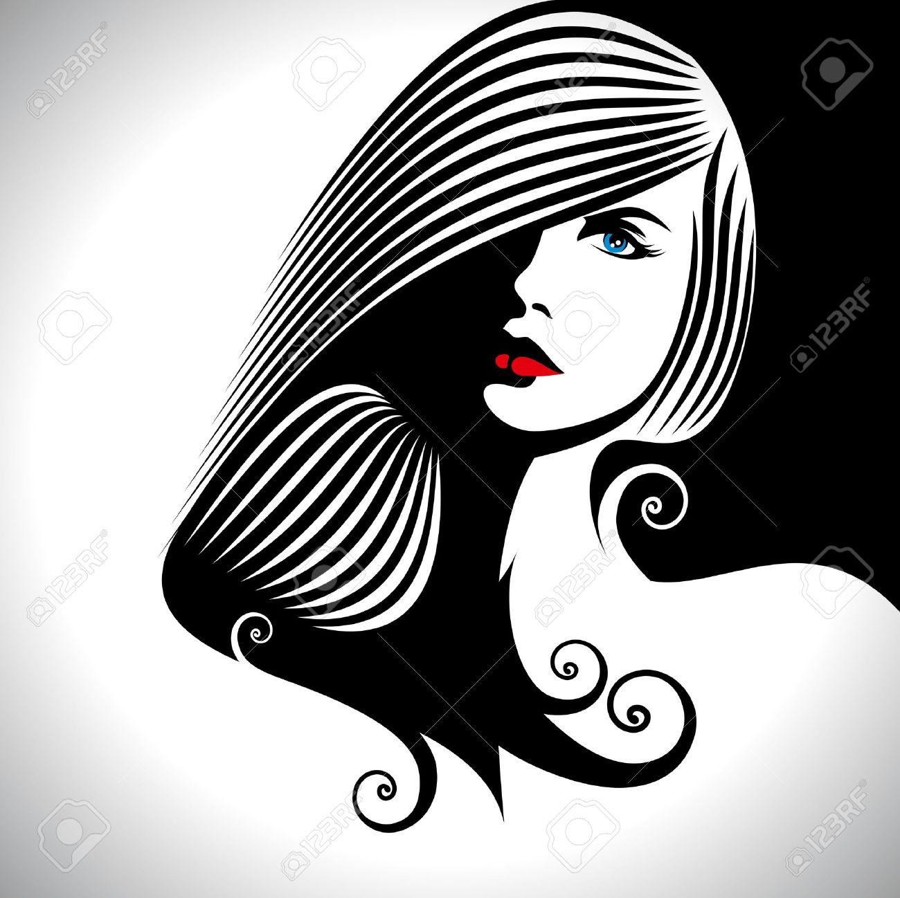 27364 Hair Salon Cliparts Stock Vector And Royalty Free