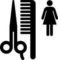 Hair Salon Clipart Black And White.