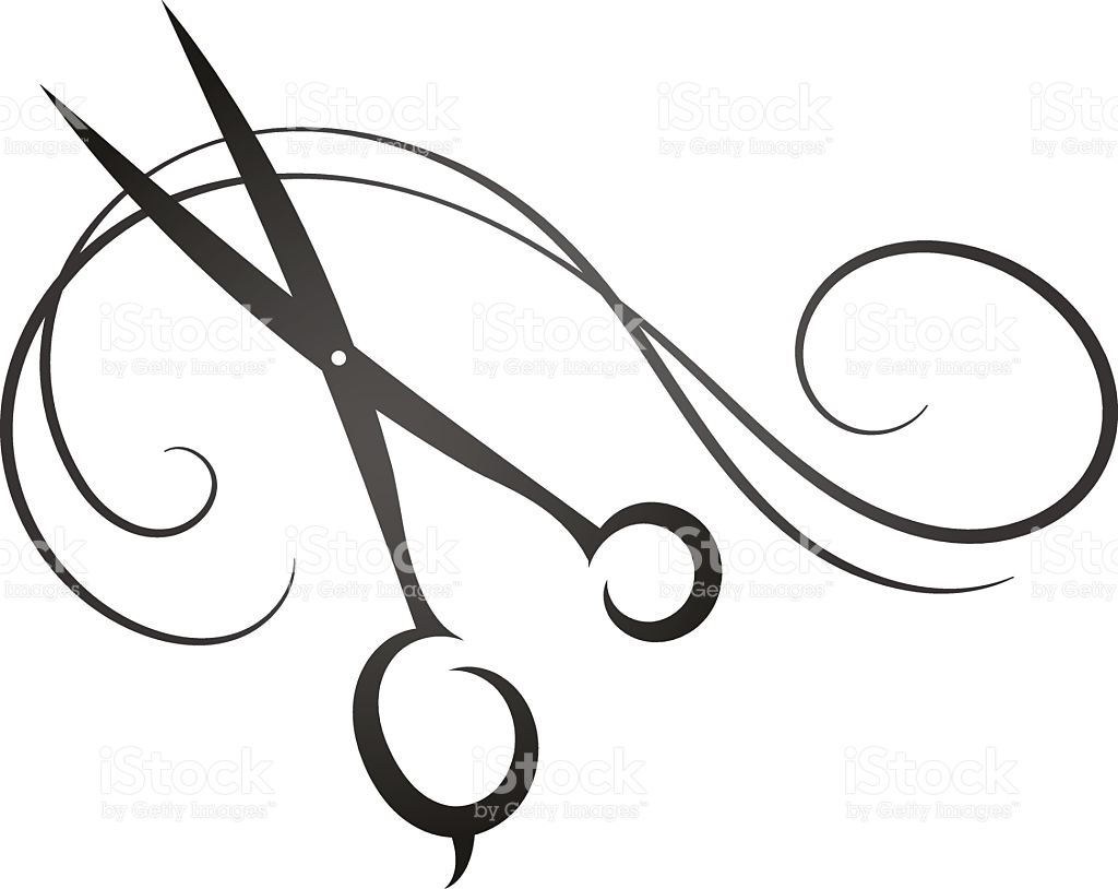 Hair Shears Clipart.