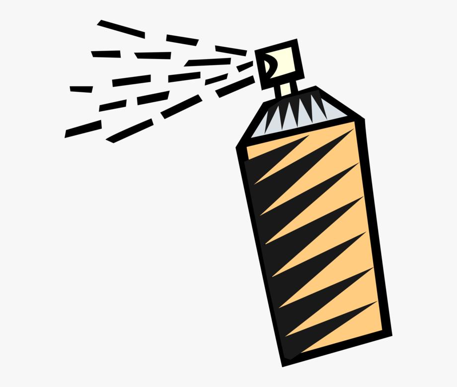 Vector Illustration Of Bottle Of Hair Spray.