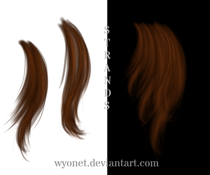 Hair Strands Png Vector, Clipart, PSD.