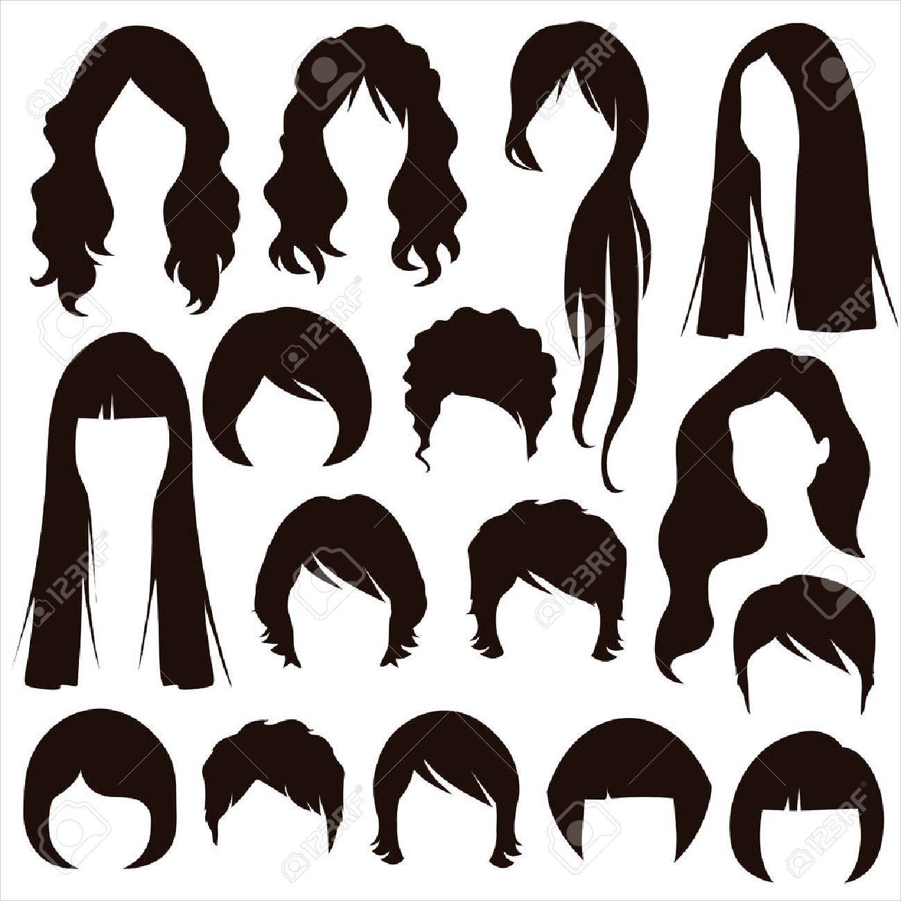 Hair Silhouette Images.