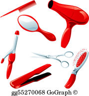 Hair Styling Clip Art.