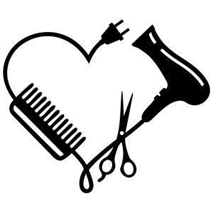 Silhouette Design Store: hair stylist logo.
