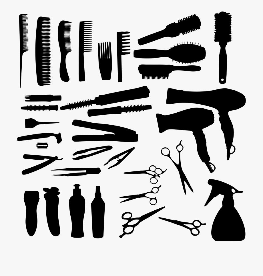 Salon Tools Clipart.