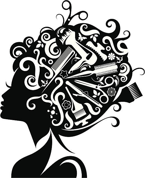 Best Hair Tools Illustrations, Royalty.