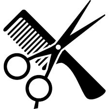 Hair styling tools clipart.