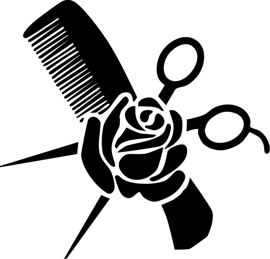 Hair Stylist Vinyl Decal Measures Approximately 7 X 6.