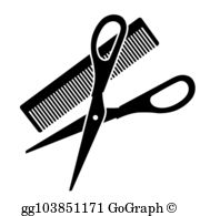 Hairdressing Scissors Clip Art.