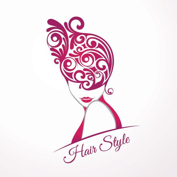 Girls Fashion Hair Style Swirls.
