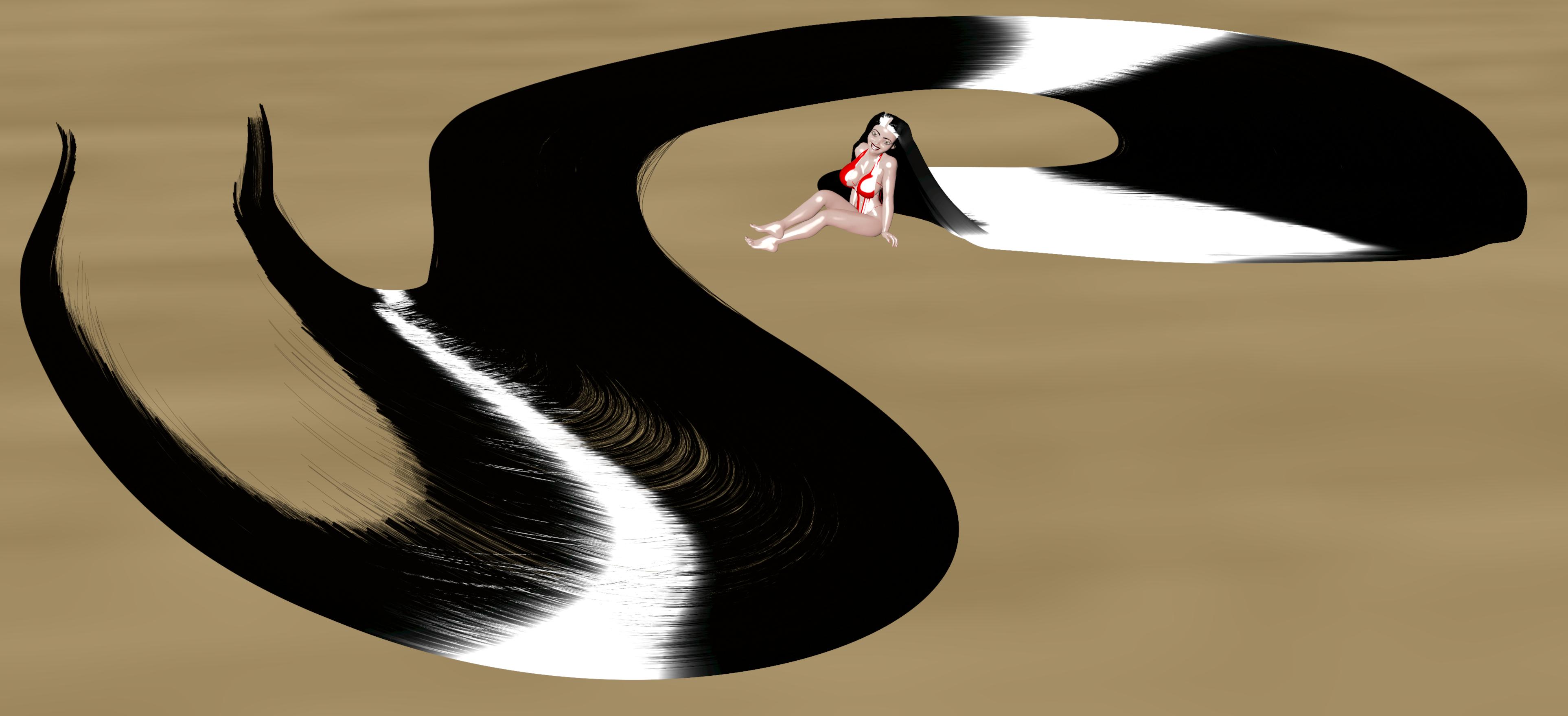 Rapunzel Girl and her Hair Swirl by MrHaroldG2000 on DeviantArt.