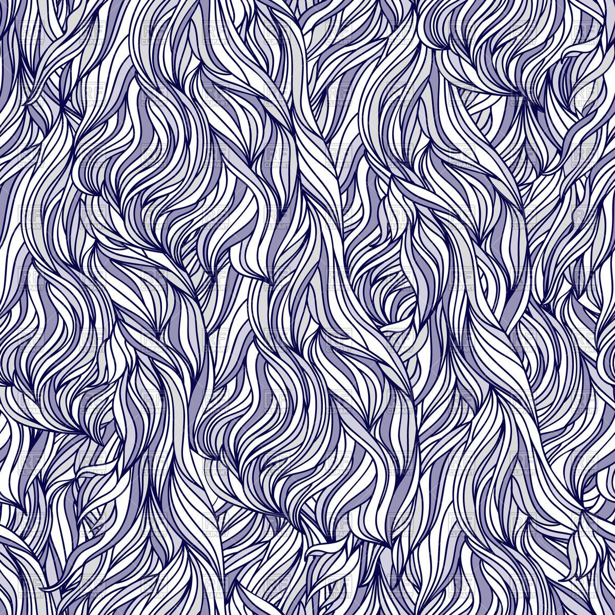 Interweaving abstract seamless pattern, mess.